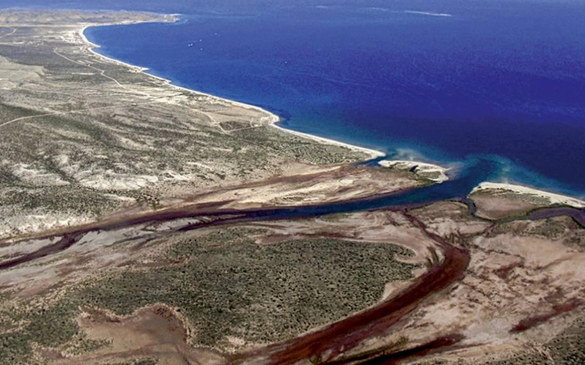 vista aérea del oasis de Mulegé