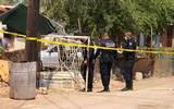En la puerta de acceso al predio se encontró a la víctima tirada en suelo