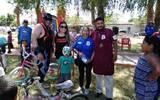 La función de Lucha Libre se llevó a cabo en el campo Santa Rosa. / Cortesía